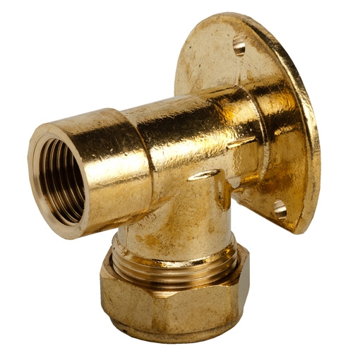 321 - Brass Wall Plate Elbow