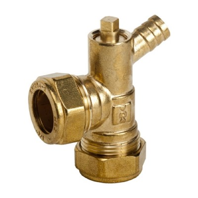 471 - Brass Elbow and Drain Off