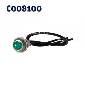 Indicator Lights Green Neon C/W Thread Nut