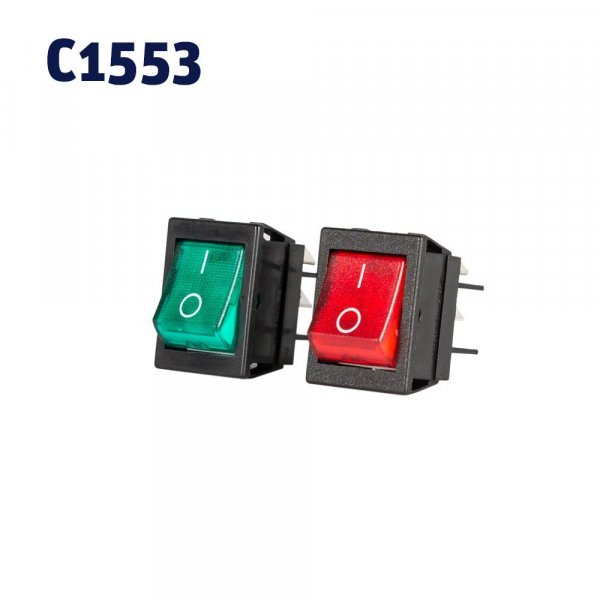 Rocker Switches Red Neon & Green Neon