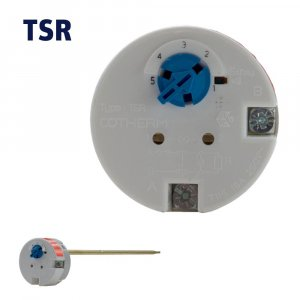 TSR0009, TSR0014 - 11 inch 16 Amp Plug In Stat, has built in high limit/manual reset and is known as a combination Thermostat