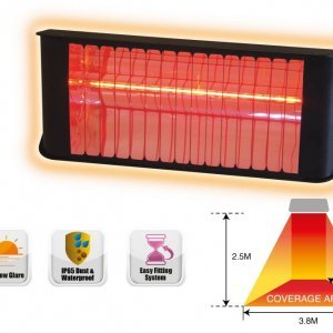 2.4KW Infrared Heater glowing graphic