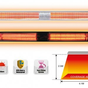3.0KW Infrared Heaters glowing graphic