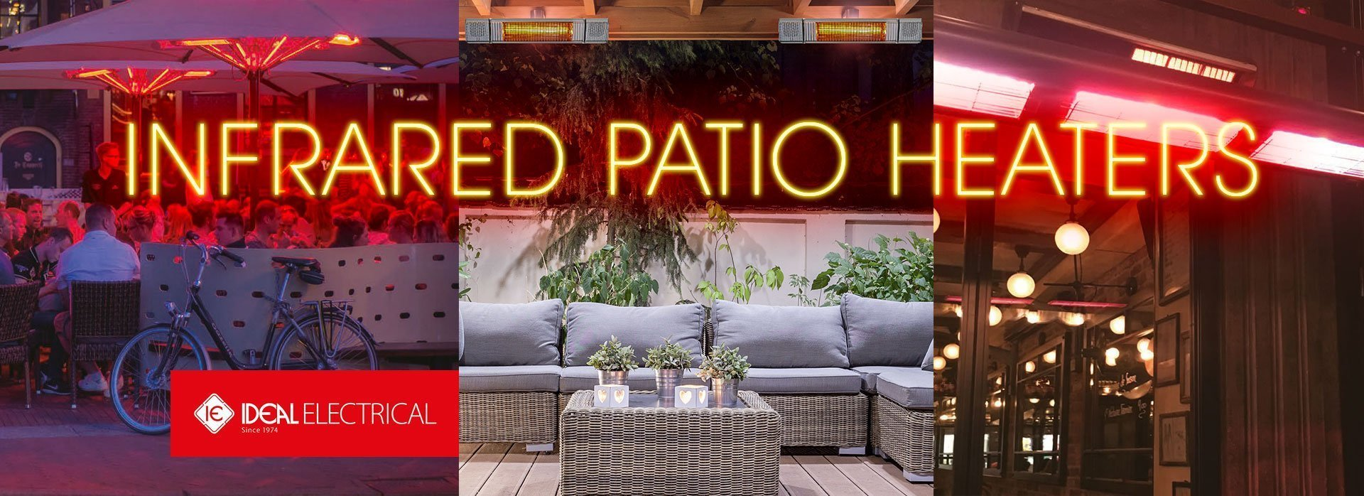 Infrared Patio heaters slide